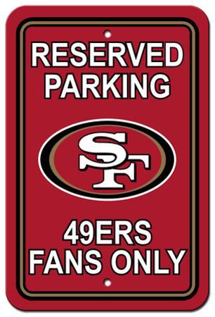 NFL San Francisco 49er's Plastic Parking Sign - Reserved Parking