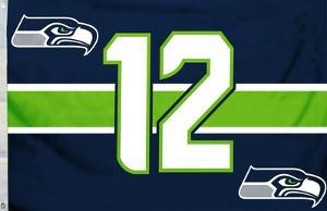 NFL Seattle Seahawks 12th Man Flag
