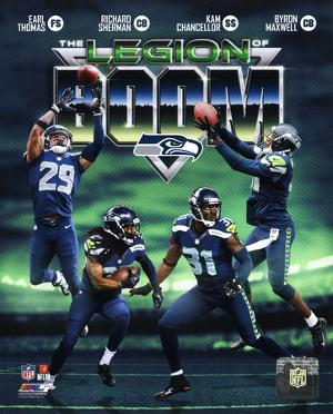 NFL Seattle Seahawks The Legion of Boom Composite - Earl Thomas, Richard Sherman, Kam Chancellor, B