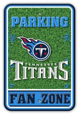 NFL Tennessee Titans Field Zone Parking Sign