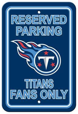 NFL Tennessee Titans Plastic Parking Sign - Reserved Parking