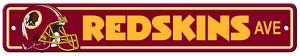 NFL Washington Redskins Plastic Street Sign