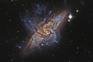Ngc 3314, a Pair of Overlapping Spiral Galaxies