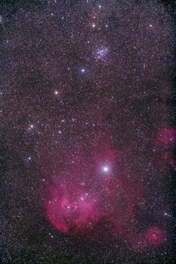 Ngc 3766 and the Lambda Cen Nebula in the Constellation Centaurus