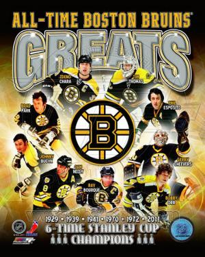 NHL Boston Bruins All-Time Greats Composite