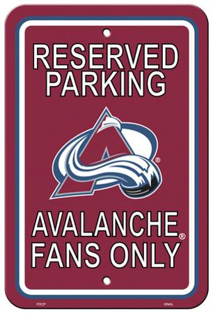 NHL Colorado Avalanche Parking Sign