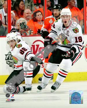 NHL Patrick Kane & Jonathan Toews 2009-10 NHL Stanley Cup Finals Game 3