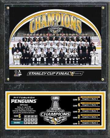 NHL Pittsburgh Penguins 2016 Stanley Cup Champions Team Sit Down Plaque