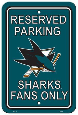NHL San Jose Sharks Parking Sign