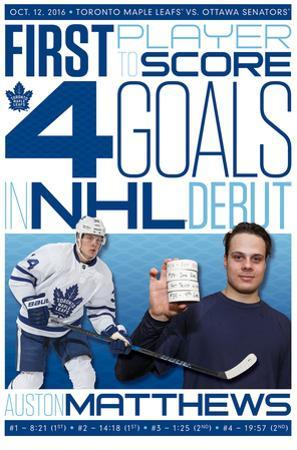 NHL: Toronto Maple Leafs- Auston Matthews History Maker