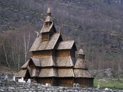 Borgund Stave Church, Laerdalen, Norway