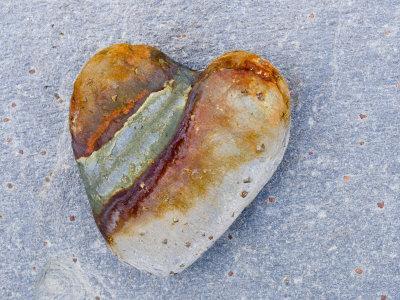 Heart-Shaped Pebble, Scotland, UK