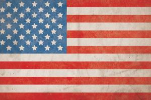 American Flag Grunge Background - Hi Res by Nic Taylor