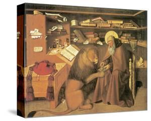 Saint Jerome In His Study by Niccolo Antonio Colantonio