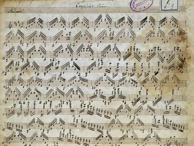 Sheet Music of Capricci, 10, for Violin Solo