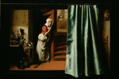 An Eavesdropper with a Woman Scolding, 1655 by Nicholaes Maes