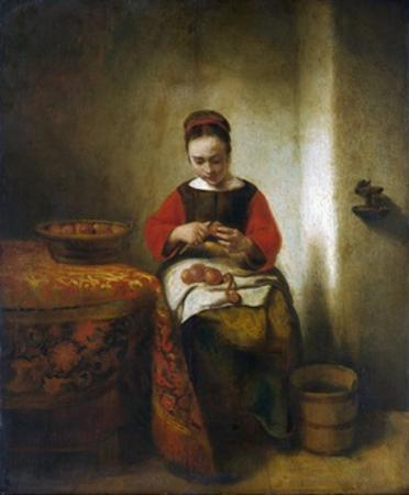 Young Woman Peeling Apples by Nicholaes Maes