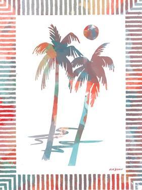 Watercolor Palms I by Nicholas Biscardi