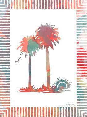 Watercolor Palms IV by Nicholas Biscardi