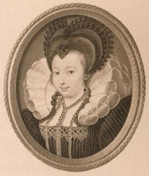 'Catherine Knevett, Countess of Suffolk', c16th century (1904) by Nicholas Hilliard