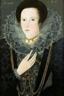 Dorothy Huddelston (Nee Dormer), 1594 by Nicholas Hilliard