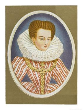 Gabrielle Estrees Mistress of Henri IV by Nicholas Hilliard