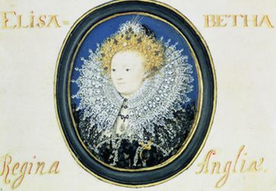 Miniature of Elizabeth I (1533-160) Queen of England and Ireland (1558-160) by Nicholas Hilliard