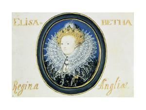 Miniature of Elizabeth I (1533-160) Queen of England and Ireland (1558-160) by Nicholas Hilliard