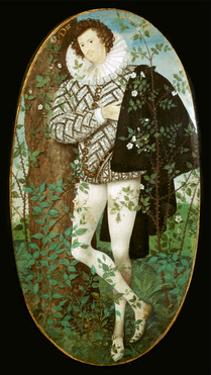 Miniature portrait of a young man, 16th century by Nicholas Hilliard