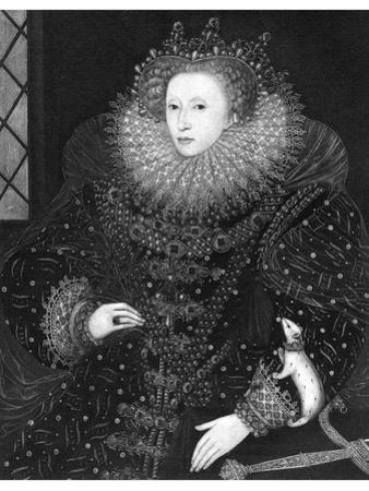 Queen Elizabeth, the Ermine Portrait, 1585 by Nicholas Hilliard