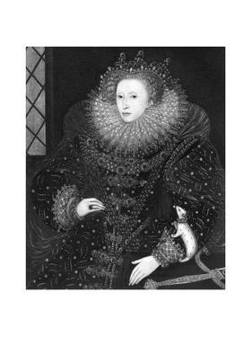 Queen Elizabeth, the Ermine Portrait, 1585 by Nicholas Hilliard