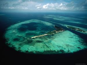 Aerial View of Islands and Reefs in the Java Sea, Indonesia by Nicholas Pavloff