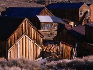 Cluster of Buildings, Ghost Town of Bodie, Eastern Sierra Nevada by Nicholas Pavloff