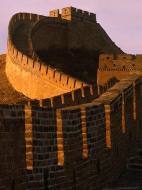 Great Wall of China at Sunset, Badaling, China by Nicholas Pavloff