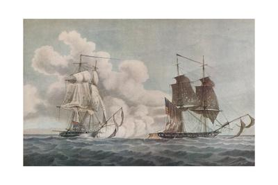 'Packet Boat and Privateer', c1819