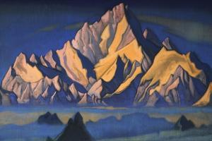 Abode of Gesar, 1947 by Nicholas Roerich