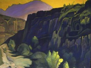 Ajanta Caves, 1938 by Nicholas Roerich