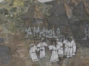 Circle Dance, Early 1900s by Nicholas Roerich