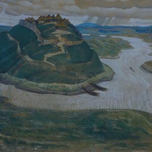 Gorodishche (Old Slavic Fortified Settlemen) by Nicholas Roerich