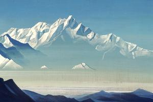 Mount of Five Treasures (Two World), 1933 by Nicholas Roerich