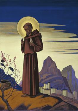 Saint Francis, 1932 by Nicholas Roerich