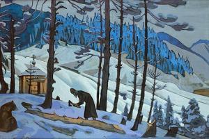 Saint Sergius the Builder, 1925 by Nicholas Roerich