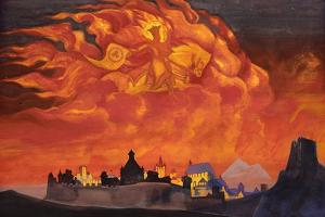 Sophia - the Wisdom of the Almighty (Santa Protectri), 1932 by Nicholas Roerich