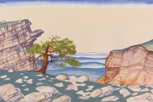 Stage Design for the Ballet the Rite of Spring (Le Sacre Du Printemp) by I. Stravinsky by Nicholas Roerich