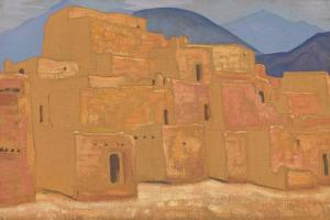 Taos Pueblo, New Mexico, Ca 1921 by Nicholas Roerich
