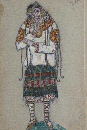 The Girl. Costume Design for the Ballet the Rite of Spring (Le Sacre Du Printemp), 1912