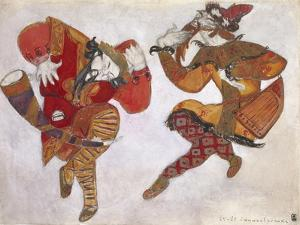 The Skomorokhs. Costume Design for the Opera Prince Igor by A. Borodin, 1914 by Nicholas Roerich