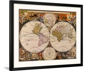 New World Map, 17th Century by Nicholas Visscher