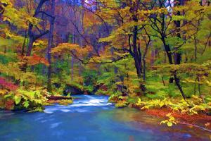 Autumn Color of Oirase River, Japan by NicholasHan