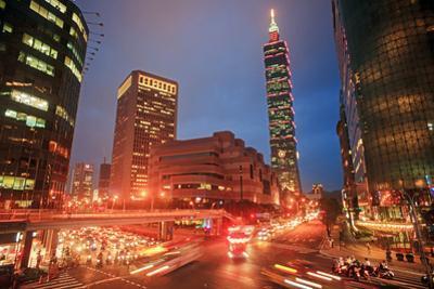 Intersection of Taipei City, Taiwan by NicholasHan